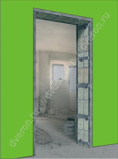 проем под двери входные металлические